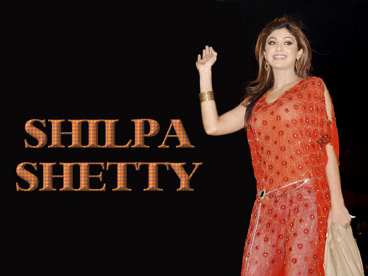 Shilpa Shetty Transparent Dress Hot Wallpaper