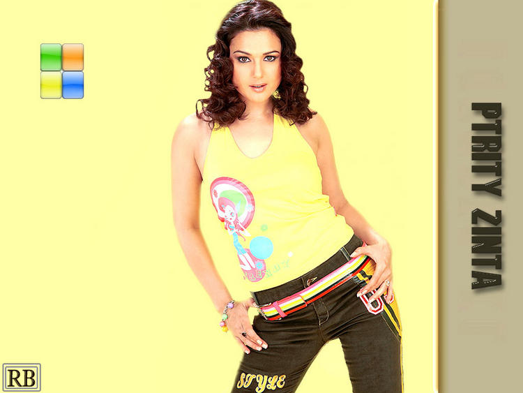 Preity Zinta Sexy Pose Wallpaper