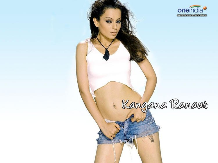 Kangana Ranaut Blue Jean Necker Showing Still