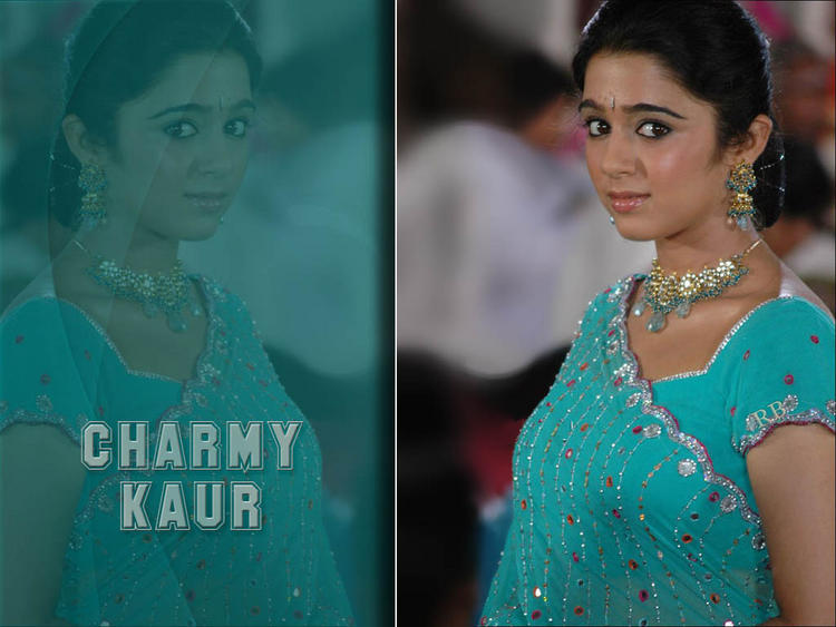 Charmy Kaur Cool Look Wallpaper In Saree