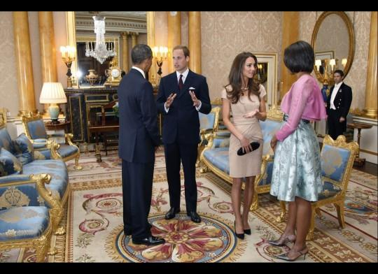 Kate Middleton and Meets Obamas at Buckingham Palace