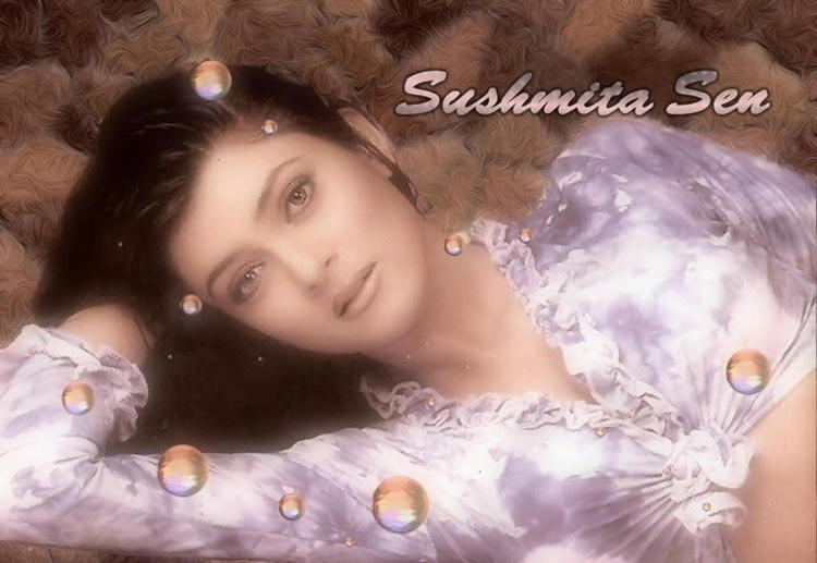 Sushmita Sen Romantic Face Look Wallpaper