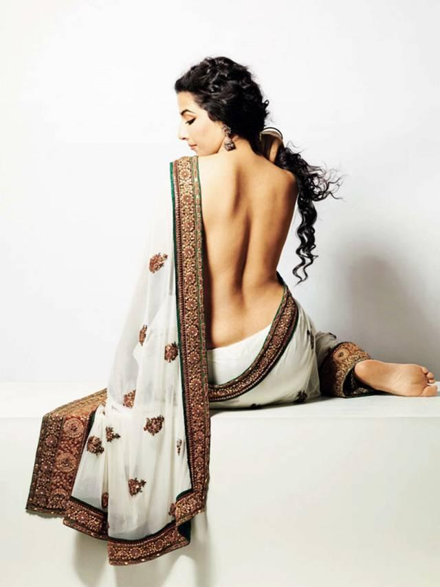Vidya Balan Sexy Bare Back Wallpaper