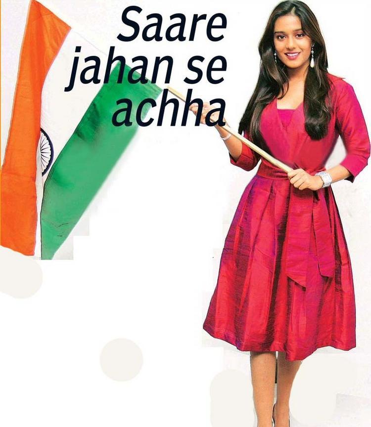 Amrita Rao Best Wallpaper With Flag