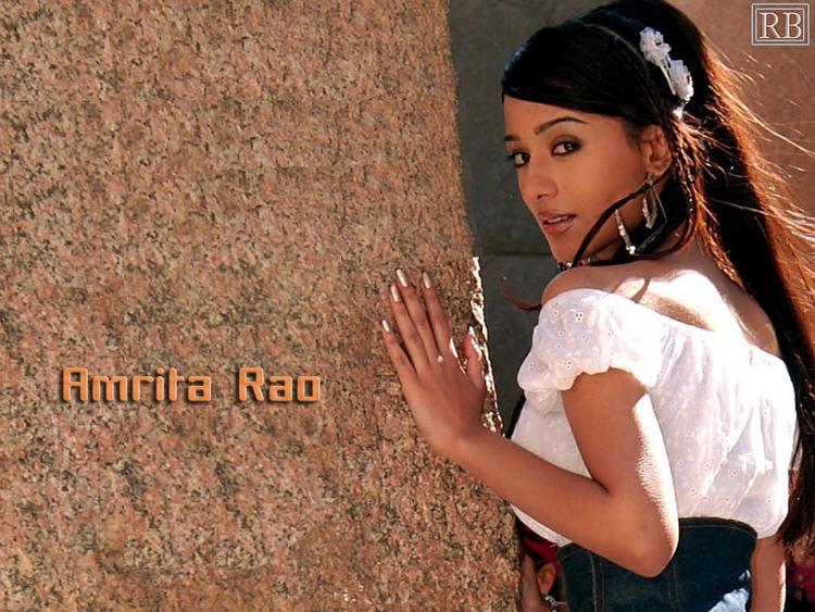 Stunning Babe Amrita Rao Hot Wallpaper