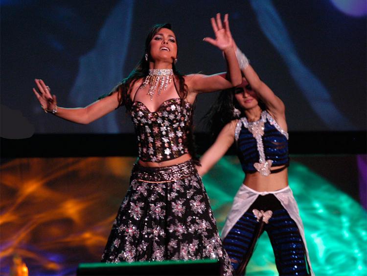 Lara Dutta Hot Stage Performance Still