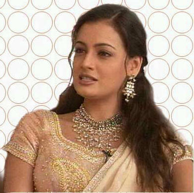 Beautiful Actress Diya Mirza Wallpaper