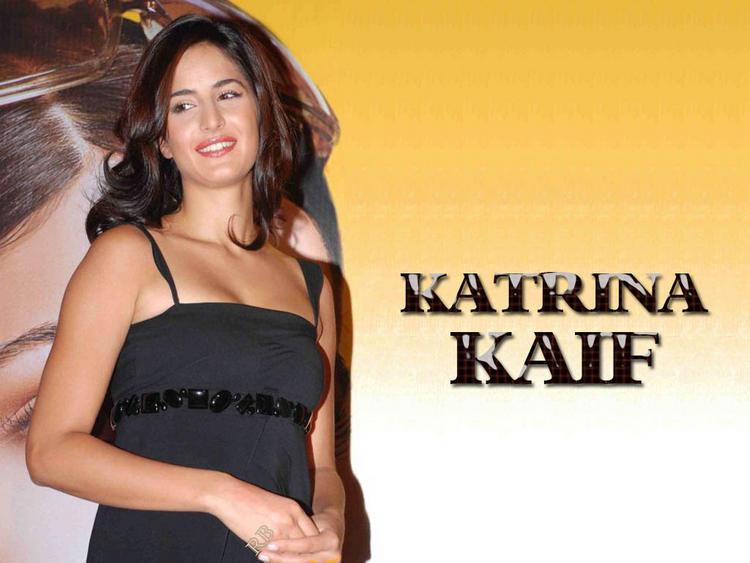 Katrina Kaif Cute Smiling Face Look Wallpaper