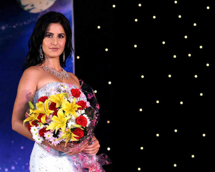 Katrina Kaif With A Flower Bouquet