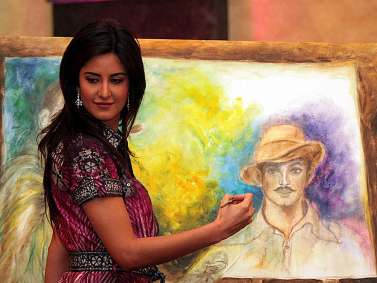 Katrina Kaif With A Painting Brush
