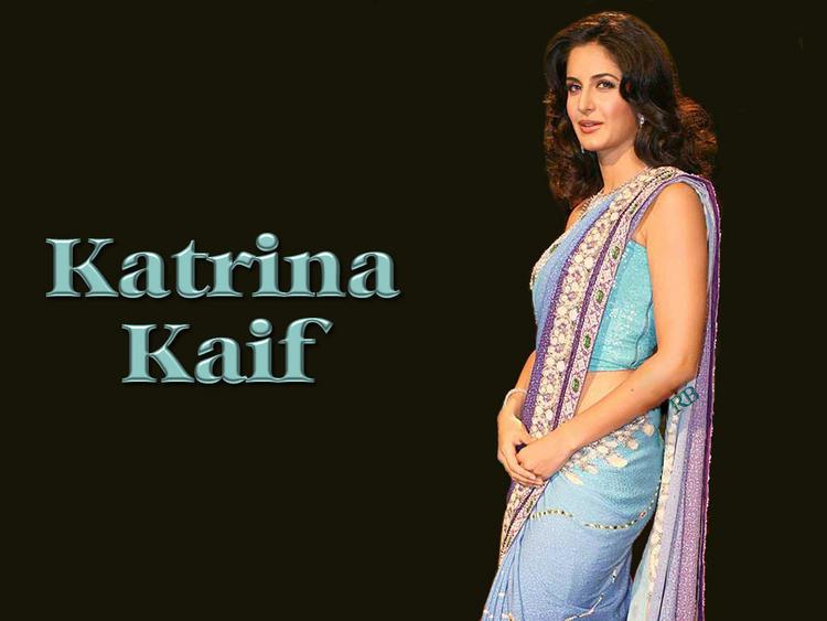 Katrina Kaif In Saree Hot Wallpaper