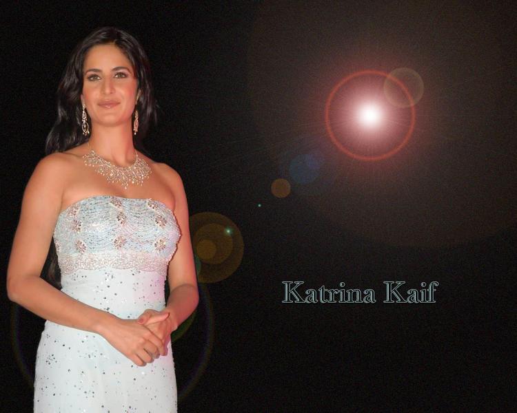 Katrina Kaif Strapless White Dress Wallpaper