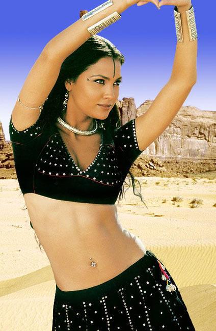 Lara Dutta Sexy Navel Pose Wallpaper