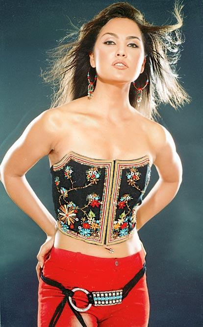 Lara Dutta Strapless Dress Wallpaper