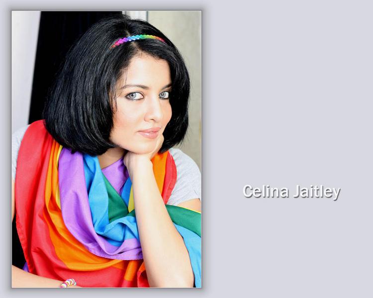 Celina Jaitley Short Hair Style Wallpaper