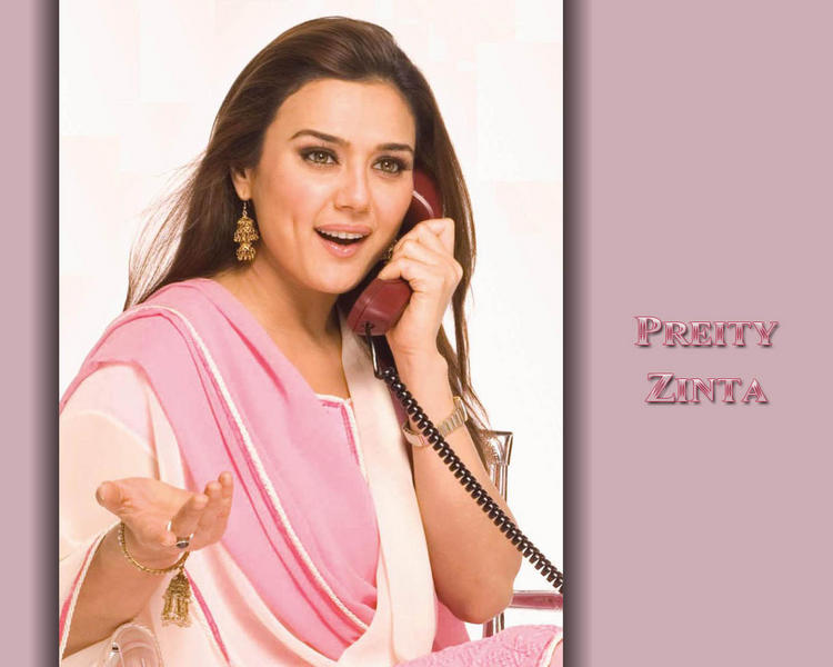 Preity Zinta Latest Cute Wallpaper With Phone