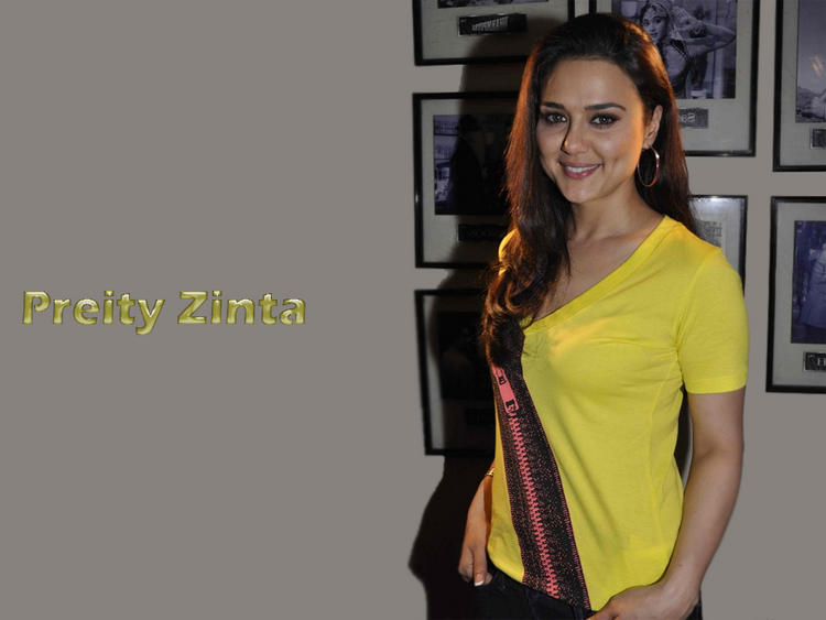 Preity Zinta Wallpaper With Yellow Tops