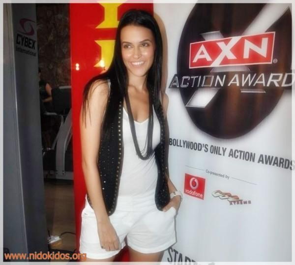 Neha Dhupia Sweet Smile Pic at AXN Action Awards