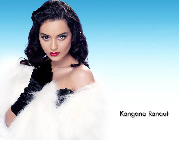 Kangana Ranaut Attractive Face Look Wallpaper