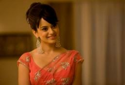 Kangana Ranaut Net Saree Cute Beauty Still