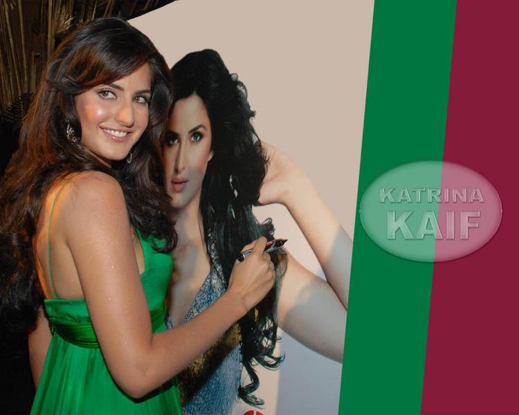 Katrina Kaif Sexy Back Exposing Wallpaper