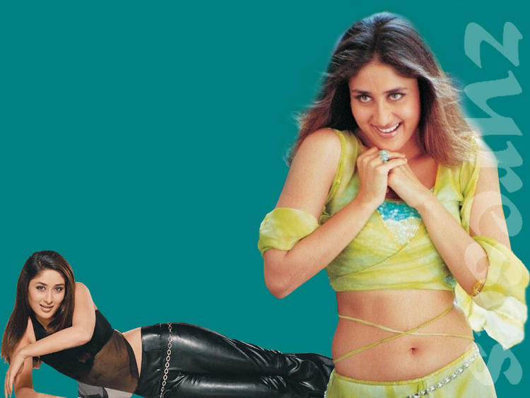 Kareena Kapoor Sexy Navel Show Wallpaper