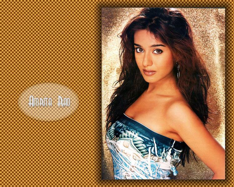 Amrita Rao Strapless Dress Hottest Wallpaper