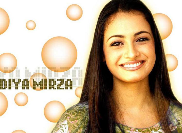 Diya Mirza Beautiful Smiling Look Wallpaper