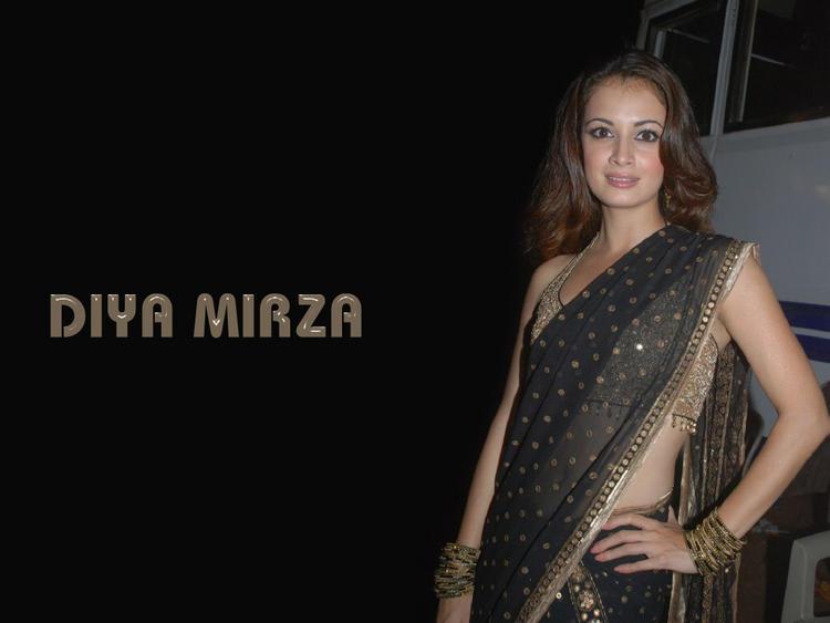 Diya Mirza Sexy Saree Wallpaper