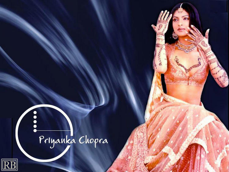 Priyanka Chopra Dancing Pose Wallpaper
