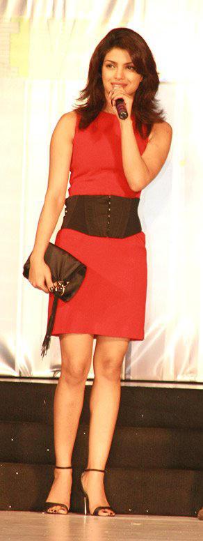 Priyanka Chopra Short Red Dress Photo