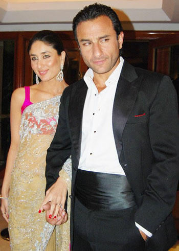 Saif Ali Khan and Kareena Saree Still