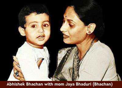 Abhishek Bachchan Childwood Pic with Mom Jaya