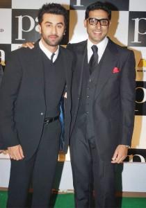 Ranbir Kapoor and Abhishek Bachchan At Paa Premiere