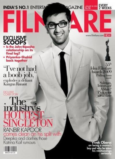 Ranbir Kapoor Filmfare Magazine Still