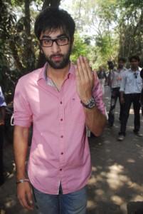 Ranbir Kapoor Vote Mark Still