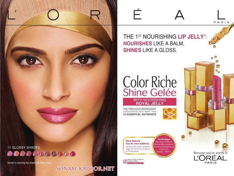Sonam Kapoor's New Print Ad for L'oreal Color Riche