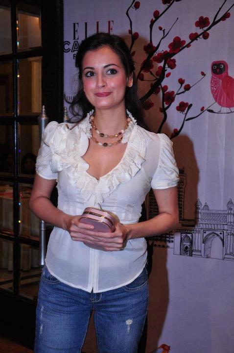 Dia Mirza Cute Still at Elle Breast Cancer Carnival
