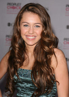 Miley Cyrus Curly Hair Style Sweet Picture