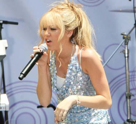 Miley Cyrus Rocking Performance Photo