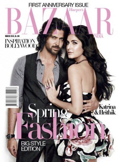 Hrithik Roshan and Katrina Harper Bazaar Magazine Still