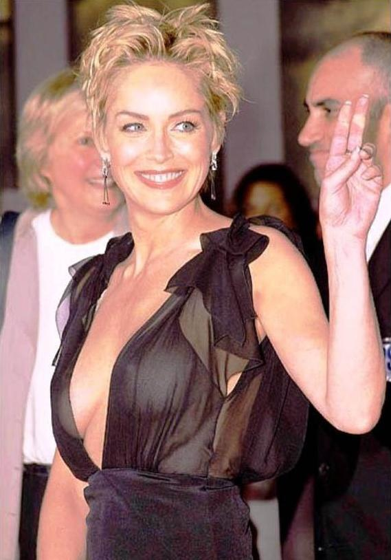 Sharon Stone Cute Smiling Pics