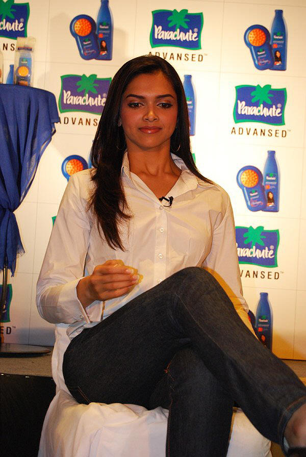 Deepika Padukone Poses With White Shirt and Black Jeans