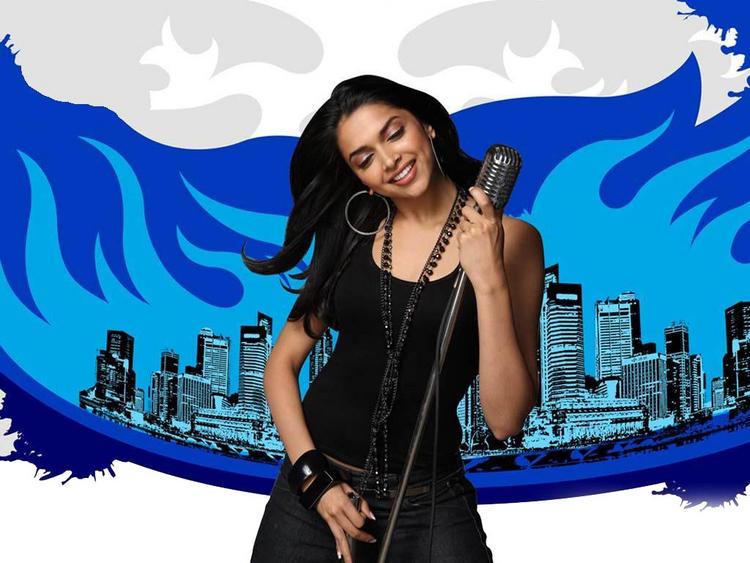 Deepika Padukone Singing Pose Photo Shoot