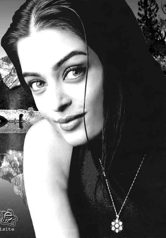Aishwarya Rai Blck and White Wallpaper