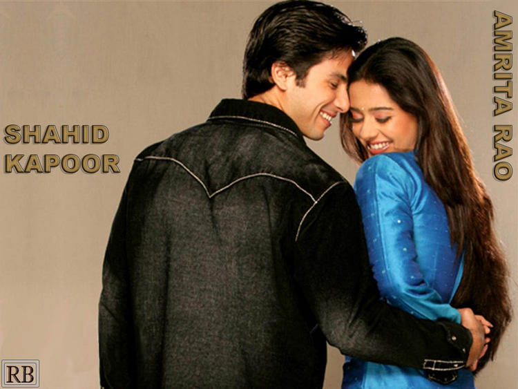 Amrita Rao And Shahid Kapoor Wallpaper