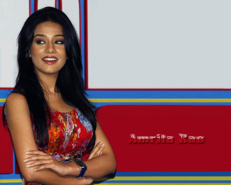Amrita Rao Smiling Wallpaper