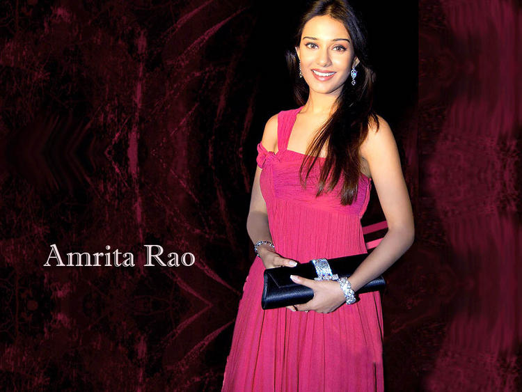 Amrita Rao Stunning Face Look Wallpaper