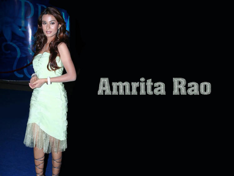 Cute Amrita Rao Wallpaper