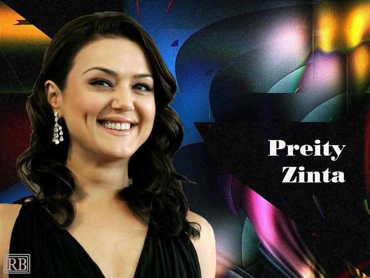 Dimple Beauty Preity Zinta Wallpaper